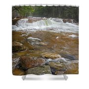 Pemigewasset River - Franconia Notch State Park New Hampshire Shower Curtain by Erin Paul Donovan