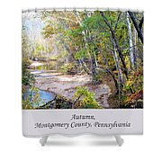 Pennsylvania Autumn Shower Curtain