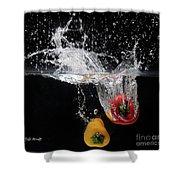 2 Pepper Splash Shower Curtain