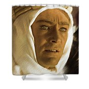 Peter O'toole As Lawrence Of Arabia Shower Curtain