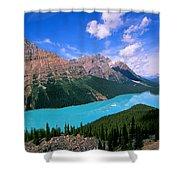 Peyto Lake, Banff National Park Shower Curtain
