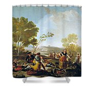 Picnic On The Banks Of The Manzanares Shower Curtain
