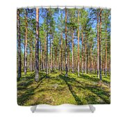 Pinewood Shower Curtain