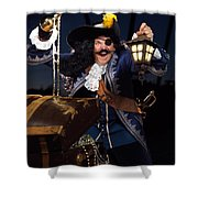Pirate With A Treasure Chest Shower Curtain