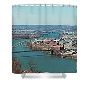 Pittsburg Skyline Shower Curtain