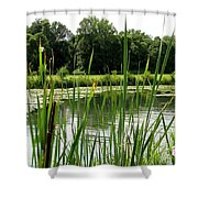 Pond At Beaver Island State Park In New York Shower Curtain