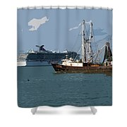 Port Canaveral In Florida Usa Shower Curtain