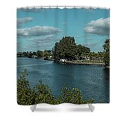 Port Charlotte From Edgewater Shower Curtain