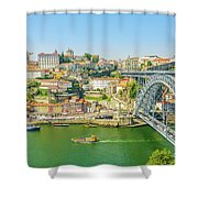 Porto Ribeira Skyline Shower Curtain