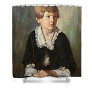 Portrait Of A Seated Child Shower Curtain