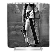 Portrait Of Cree Indian Warrior Shower Curtain
