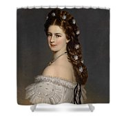 Portrait Of Empress Maria Alexandrovna Shower Curtain