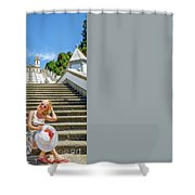 Portugal Woman Tourist Shower Curtain