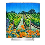 Presidio Vineyard Shower Curtain