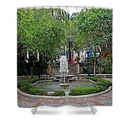 Public Fountain And Gardens In Palma Majorca Spain Shower Curtain