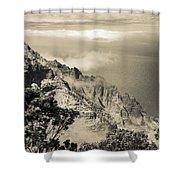 Puu O Kila Lookout, Kauai, Hi Shower Curtain by T Brian Jones