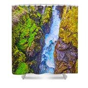 Pyrenees Waterfall Shower Curtain