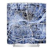 Quad Cities Street Map Shower Curtain
