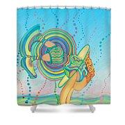 Quantum Leap Shower Curtain