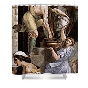 Raphael The Fire In The Borgo  Shower Curtain