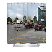 Ready To Work Shower Curtain