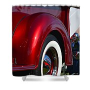 Red Chevy Pickup Fender Shower Curtain