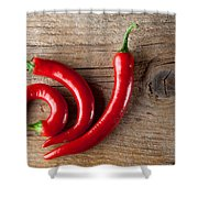 Red Chili Pepper Shower Curtain