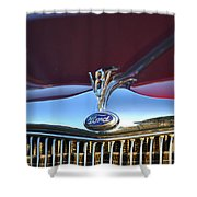 Red Ford Hotrod Shower Curtain