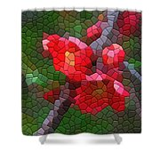 Red Quince Shower Curtain