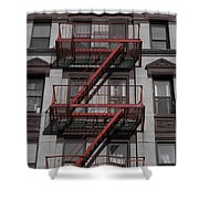 2 Red Zs Shower Curtain