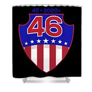 Reelect Trump For President Keep America Great Dark Shower Curtain