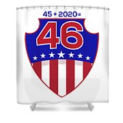 Reelect Trump For President Keep America Great Light Shower Curtain