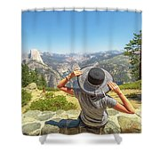 Relaxing At Glacier Point Shower Curtain