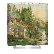 Reproduction Of Thomas Kinkade Shower Curtain
