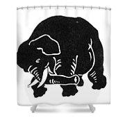 Republican Elephant, 1874 Shower Curtain
