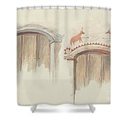 Restoration Drawing Shower Curtain