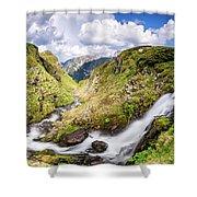 Rila Mountain Shower Curtain