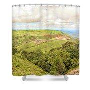 Road Landscape In Tanzania Shower Curtain