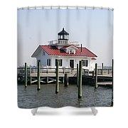 Roanoke Marshes Lighthouse Shower Curtain