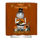 Robo-x9 The Pilgrim Shower Curtain
