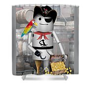 Robo-x9 The Pirate Shower Curtain