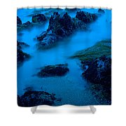 Rock Formations On The Coast, Central Shower Curtain