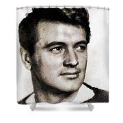 Rock Hudson, Vintage Hollywood Legend Shower Curtain