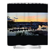 Rockport Harbor Sunset I Shower Curtain