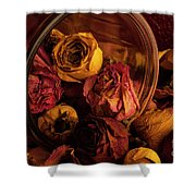 Roses Spilling Out Of Vase Shower Curtain