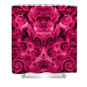 Roses Tapestry And Curls Shower Curtain