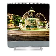 Rossio Square Night Shower Curtain