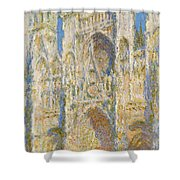 Rouen Cathedral, West Facade, Sunlight Shower Curtain