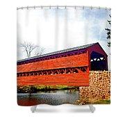 Sachs Bridge - Gettysburg Shower Curtain