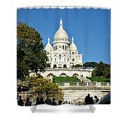 Sacre-coeur /  Basilica Of The Sacred Heart Of Paris Shower Curtain